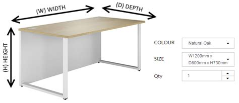 Desk Depth by Understanding Office Furniture Measurements Kit Out My