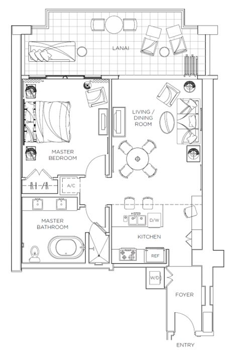 One Bedroom Unit Layout by Review Hyatt Residence Club One Bedroom Villa
