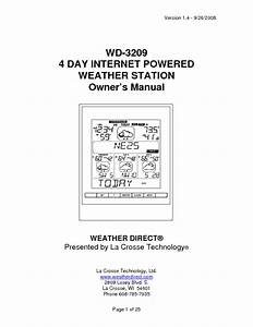 Internet-powered Weather Station Wd-3209 Manuals