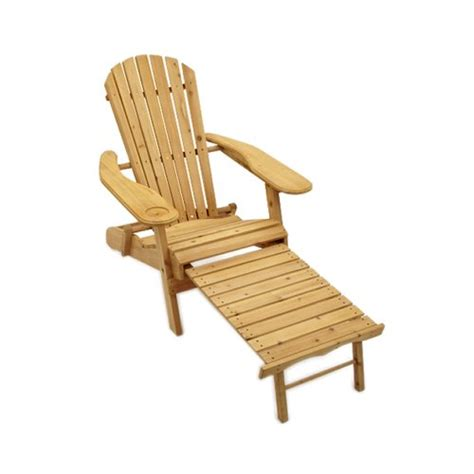 adirondack garden lounger chair with pull out leg rest