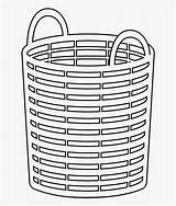 Basket Laundry Coloring Clipart Clipartkey sketch template