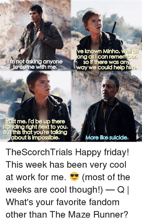 The Maze Runner Memes - funny minho memes of 2017 on sizzle owners