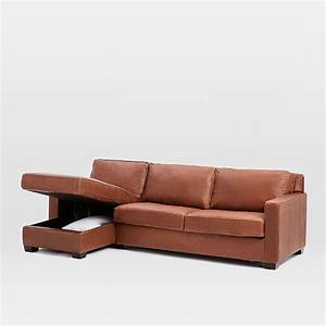 henry 2 piece pull down leather full sleeper sectional With henry leather sectional sofa