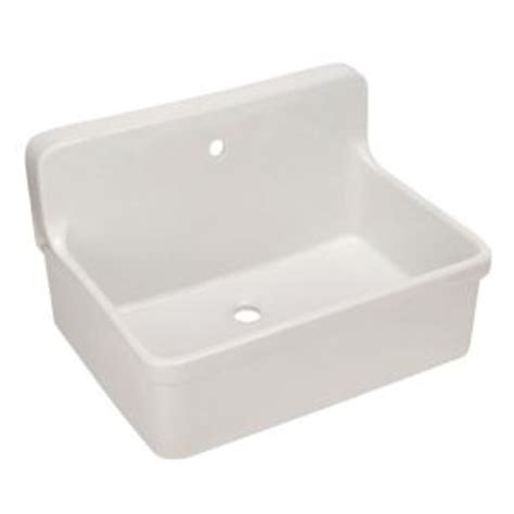 kohler gilford 22 in vitreous china laundry sink in white k 12781 0 the home depot