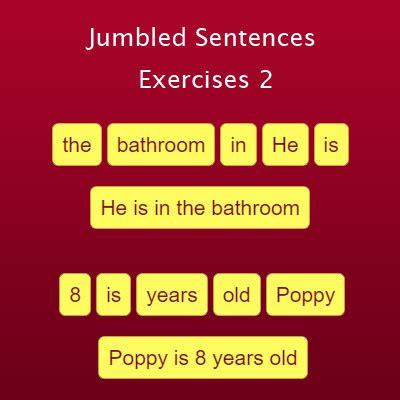 jumbled sentences exercise  english grammar exercises
