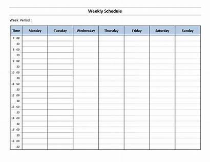Weekly Schedule Templates Calendarlabs Template Excel Word