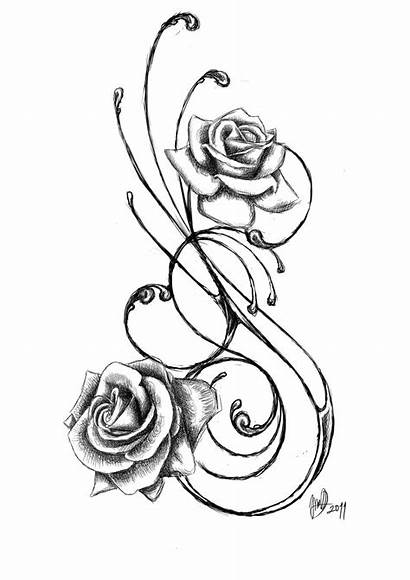Rose Tattoos Designs Tattoo Roses Outline Vine