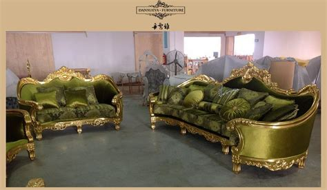 green fabric sofas for sale arabic dubai royal gold wood carved green velvet fabric
