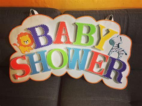 Letrero para baby shower Baby shower Crafts Decor