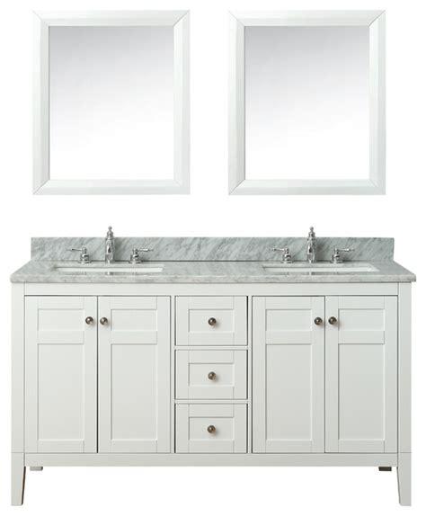 maili bath vanity set white houzz exclusive 60