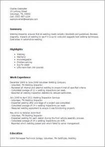 welding inspector resume in singapore professional welding inspector templates to showcase your