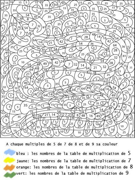 les 25 meilleures id 233 es concernant coloriage magique multiplication sur l