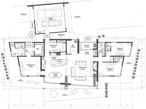 modern home floorplans modern house plans concrete