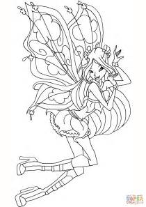 Kleurplaten Winx Club Believix by Flora Believix Coloring Page Free Printable Coloring Pages