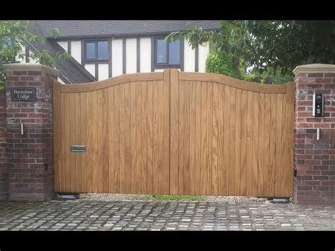 electric wooden gates  driveways designs youtube