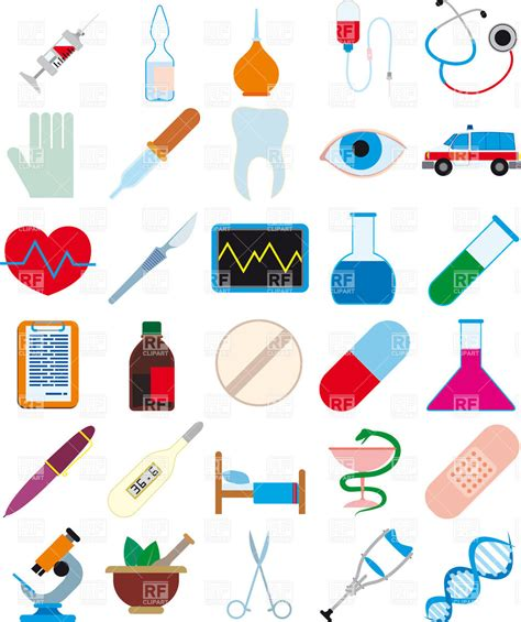 Healthcare Clipart Medicine Pharmaceutics And Health Care Icons Vector