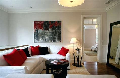 Red Grey White Living Room : Red Black And White Living Room Decorating Ideas Brown