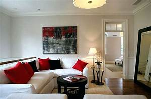 red black and white living room decorating ideas brown With black white and red living room decor