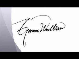 How to draw a cute and cool signature! - YouTube