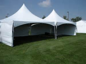 dunk booth rental 20 x 40 high peak frame tent with side walls rental