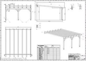 416 Baupläne Bauplan Pultdach Carport Terrassendächer