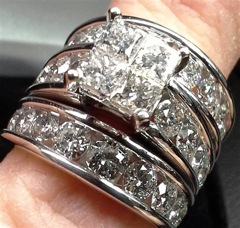 engagement wedding ring set kay jewelers  clear diamond