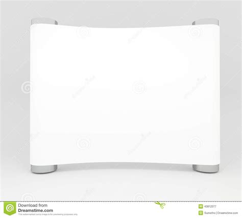 blank trade show booth  design stock illustration
