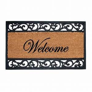 TrafficMASTER Welcome 18 in. x 30 in. Coir and Rubber Door ...