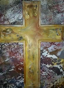Wachs Von Holz Entfernen : bild kreuz erl sung wachs pigmente von margarethe ~ Lizthompson.info Haus und Dekorationen