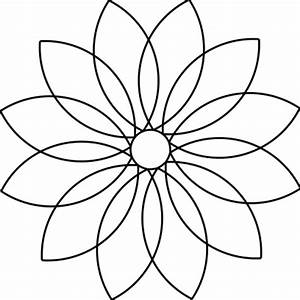 daisy petal pattern quotes With 12 petal flower template