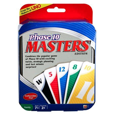Count by tens from zero to one hundred with an adventurous dog and an adventurous song! UNO Phase 10 Masters Edition Card Game - Walmart.com