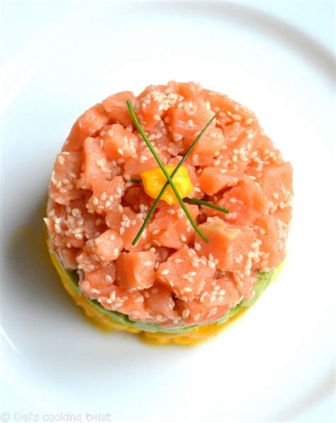 tartare cuisine salmon tartare with avocado mango 39 s cooking twist