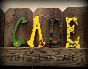 17 best images about little noah39s nursery pinspiration on With john deere wooden letters
