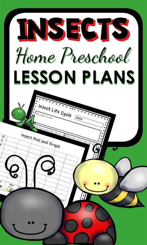 preschool bug lesson plans insect theme home preschool lesson plan home preschool 101 204