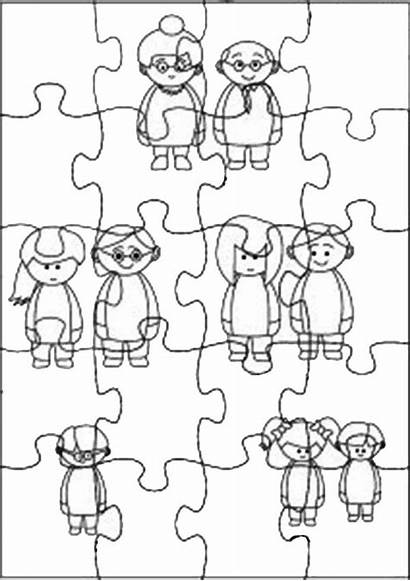 Coloring Puzzles Jigsaw Theme Pages Saw Jig