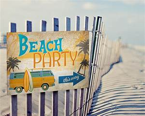 Vintage Surf Party Posters