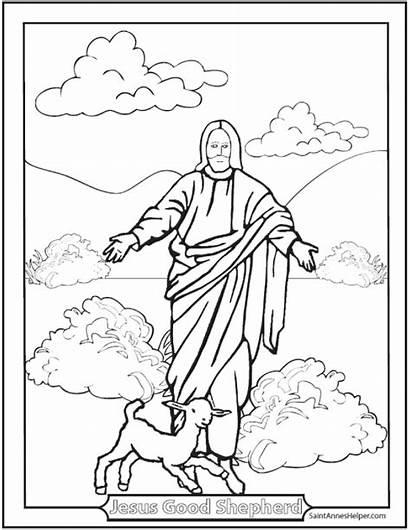 Coloring Bible Story Catholic Shepherd Rosary Cards