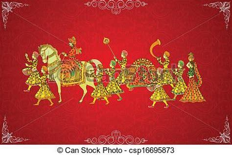 easy  edit vector illustration  indian wedding card