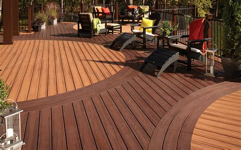 trex customcurve build  curved deck trex