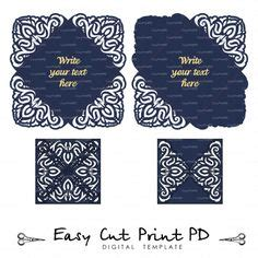 5x7'' Gate fold Wedding Invitation Card Template