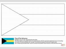 Flag of the Bahamas coloring page Free Printable