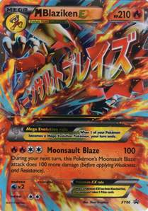 Mega Blaziken Pokemon Card Ex
