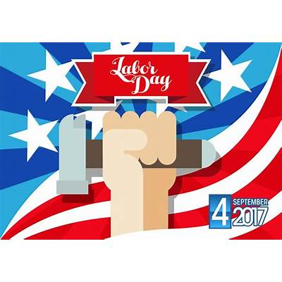 Labor Day September 4th 2017 Vector - Download Free