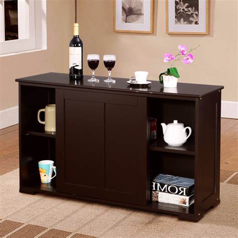 goplus home living room storage cabinet sideboard buffet
