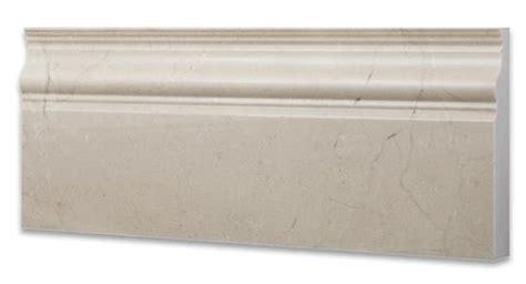 crema marfil marble baseboard trim molding polished