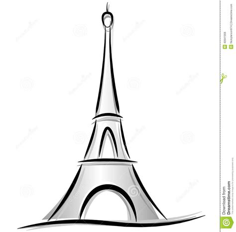 eiffel tower drawing  kids    clipartmag