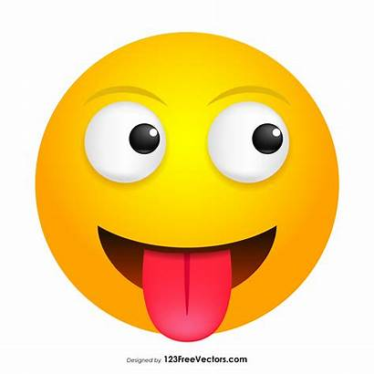Smiley Vector Face Emoji Clipart Tongue Acid