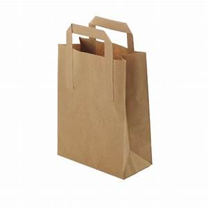 Small Brown Paper Takeaway Bags With Handles (pk 25 ...