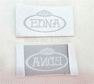 free shipping custom clothing label dress embroidered With embroidered tags labels