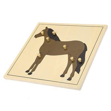 horse puzzle montessori biology puzzles montessori